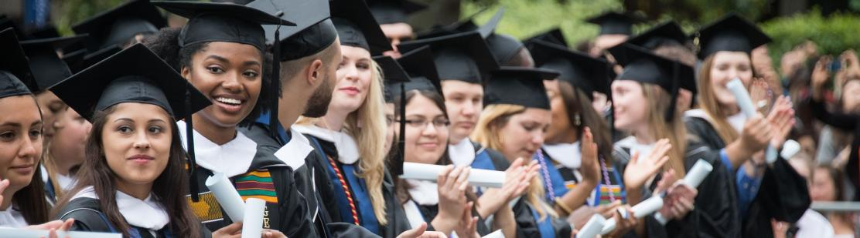 George Mason University Graduation 2020.Commencement Georgetown University